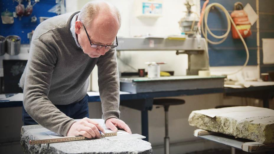Måling ved prosess for gravstein