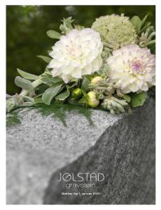 Blomster på gravstein